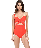 JETS by Jessika Allen - Jetset Wrap Underwire Plunge One-Piece Swimsuit