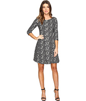 Taylor - Knit Jacquard Fit & Flair Dress
