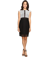 Christin Michaels - Helene Color Block Lace Dress