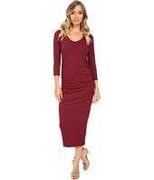Michael Stars - 3/4 Sleeve Ruched Midi Dress