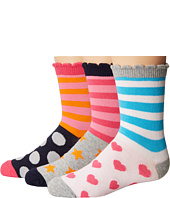 Jefferies Socks - Stripes/Dots/Hearts/Stars Crew Socks 3-Pair Pack (Toddler/Little Kid/Big Kid)