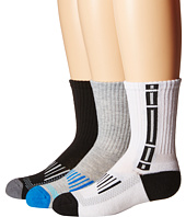 Jefferies Socks - Tech Sport Half Cushion Crew Socks 3-Pair Pack (Toddler/Little Kid/Big Kid/Adult)
