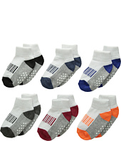 Jefferies Socks - Sporty Half Cushion Quarter Socks 6-Pair Pack (Toddler/Little Kid/Big Kid/Adult)