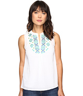 Tommy Bahama - Gauze Embroidered Sleeveless Bib Tunic