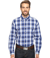 Roper - 0555 Blue River Plaid Button