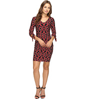 Laundry by Shelli Segal - Tie Sleeve Printed Matte Jersey Dress