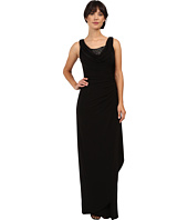 Adrianna Papell - Sleeveless Side Drape Gown
