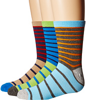 Jefferies Socks - Stripe Crew Socks 3-Pair Pack (Toddler/Little Kid/Big Kid)