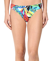 LAUREN Ralph Lauren - Rainforest Tropical Print Hipster Bottom w/ Classic Logo Plate
