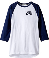 Nike Kids - SB Dry Icon 3/4 Sleeve Top (Little Kids/Big Kids)