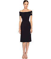 Zac Posen - Bonded Crepe Corseted Cold Shoulder Dress