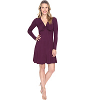 Mod-o-doc - Cotton Modal Spandex Jersey Twist Front Empire Seamed Dress