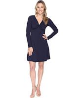 Mod-o-doc - Cotton Modal Spandex Jersey Twist Front Empire Seamed Dress