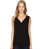 Calvin Klein - Sleeveless Top w/ Chiffon Wrap