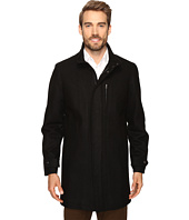 Perry Ellis - Wool Zip Front City Coat