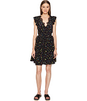 The Kooples - Ladybird Print on Silk Crepe de Chine Short Sleeve Dress