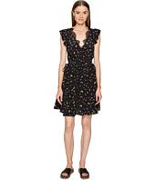 The Kooples - Ladybird Print on Silk Crepe de Chine Short Sleeve Dress