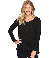 Nally & Millie - Black Glitter V-Neck Tunic with Back Pleat