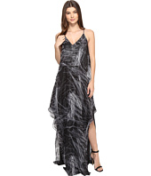 Halston Heritage - Sleeveless Cami Flowy Printed Gown