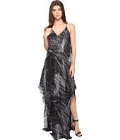Halston Heritage - Sleeveless Cami Flowy Printed Gown
