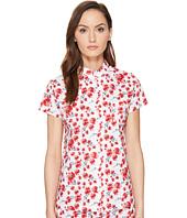 Emporio Armani - Poppy Dream Cotton Loungewear Button Down Sleep Shirt