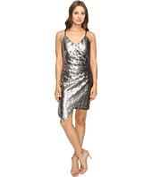 Adelyn Rae - Sequin Sleeveless Wrap Dress