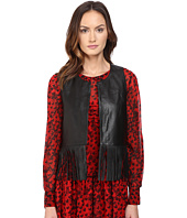 Boutique Moschino - Leather Fringe Top