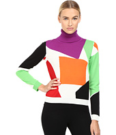 Boutique Moschino - Color Block Turtleneck Sweater