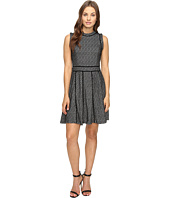 Adelyn Rae - Fit and Flare Dress with Black Trim