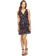Adelyn Rae - Printed Ruffle Fit and Flare Dress