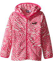 Puma Kids - Printed Polar Fleece Zip Front Hoodie (Toddler)