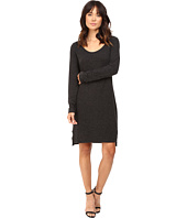 HEATHER - Brushed Hacci Long Sleeve Dress
