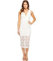 JILL JILL STUART - All Over Lace Deep-V Midlength Dress