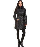 Via Spiga - Fly Away Braided Quilt with Luxe Faux Fur Collar