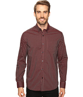 Kenneth Cole Sportswear - Long Sleeve Button Down Collar One-Pocket Gingham