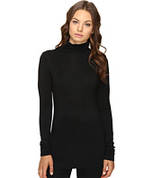 HEATHER - Long Sleeve Mock Neck Tee