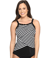 Miraclesuit - New Directions Color Block High Neck Tankini Top