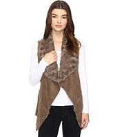 Brigitte Bailey - Rowena Faux Suede Fuzzy Vest