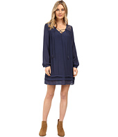 Brigitte Bailey - Sigrid Long Sleeve Dress with Lace Detail