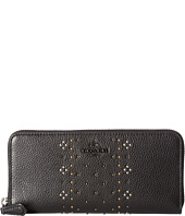 COACH - Bandana Rivets Slim Accordian Zip