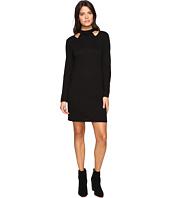 Lanston - Cut Out Turtleneck Mini Dress