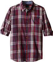 Lucky Brand Kids - Woven Plaid Button Down Shirt (Big Kids)