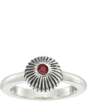 King Baby Studio - Ribbed Sphere Ring w/ Ruby