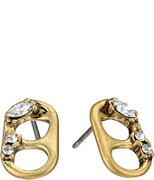 Marc Jacobs - Safety Pin Mini Strass Soda Lid Studs Earrings