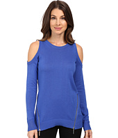 MICHAEL Michael Kors - Cold Shoulder Zip Sweater