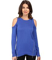 MICHAEL Michael Kors - Cold Shoulder Zip Sweater