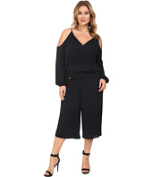 MICHAEL Michael Kors - Plus Size Cold Shoulder Jumpsuit
