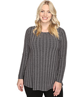 B Collection by Bobeau Curvy - Plus Size Alexa Rib Knit Tee