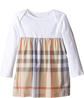 Burberry Kids - Cherrylina Long Sleeve Half Checked Dress (Infant)