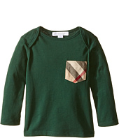 Burberry Kids - Callum Checked Pocket Long Sleeve Top (Infant)